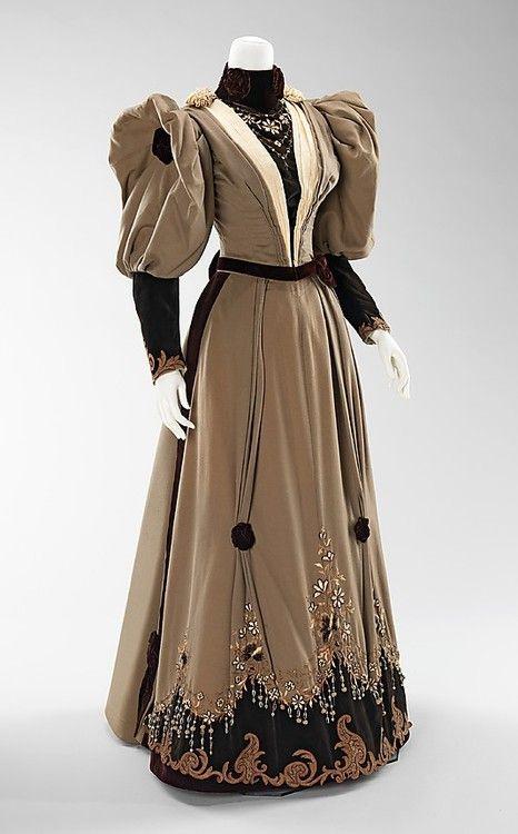 1893    The Metropolitan Museum of Art: Evening Dresses, Vintage Fashion, Dress 1893, 19Th Century, Metropolitan Museum, Costume, 1890S, 1890 S, Vintage Clothing