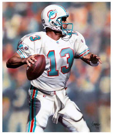 Dan Marino - Miami Dolphins,the steelers should have drafted him.he had no running game and a weak defense during his career with the dolphins which is why they never won a superbowl.