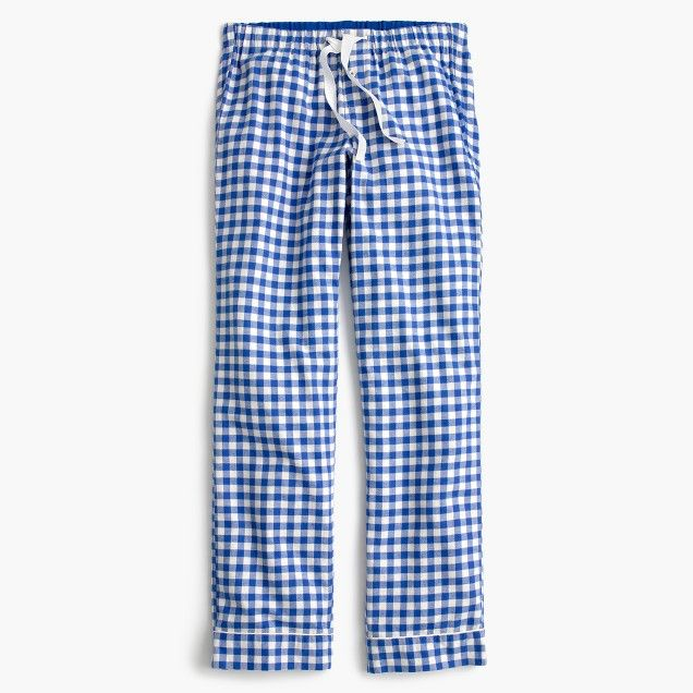 Tall gingham flannel pajama pant, cobalt, large