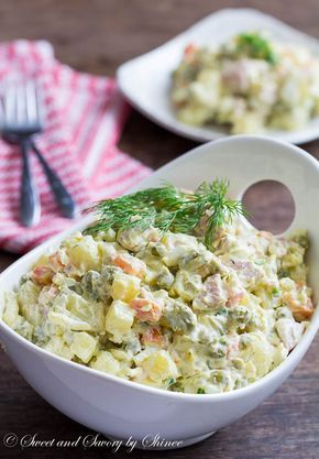 This Homemade Russian potato salad recipe is very forgiving and you can easily customize it to your on taste.