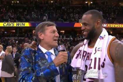 LeBron James, Craig Sager cap Game 6 with wonderful postgame interview