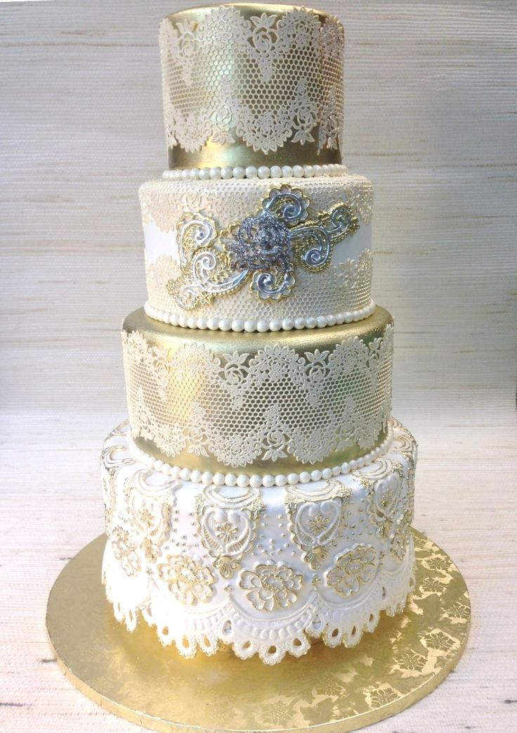 53 best images about custom wedding cakes with sugar lace and metallic finish on pinterest. Black Bedroom Furniture Sets. Home Design Ideas