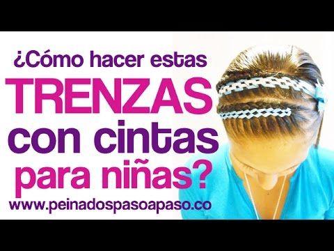 Peinados para niña paso a paso - ¿Como hacer este peinado adornado con cintas? - YouTube