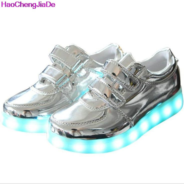 (Presente:pequeña toalla)c9 EU 36, LED Mujeres plata moda Zapatos Light 7 Up de Silver