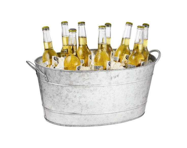 Galvanized Steel Oval Beverage Tub