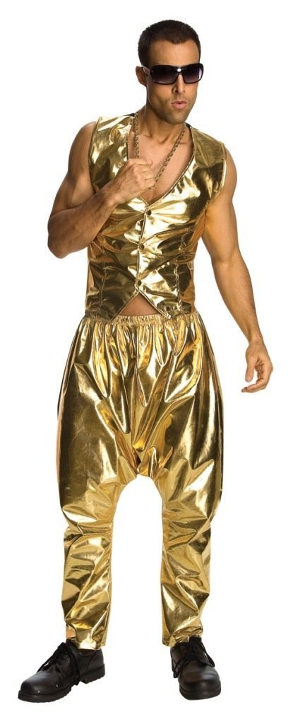 Rubies Retro 80s MC Rapper Costume Adult Gold Hammer Pants