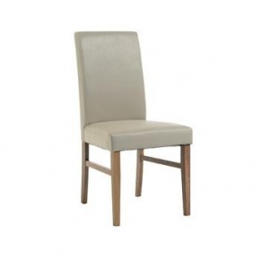 Cotswold Pine Faux Leather Chair Ivory KN506  www.easyfurn.co.uk