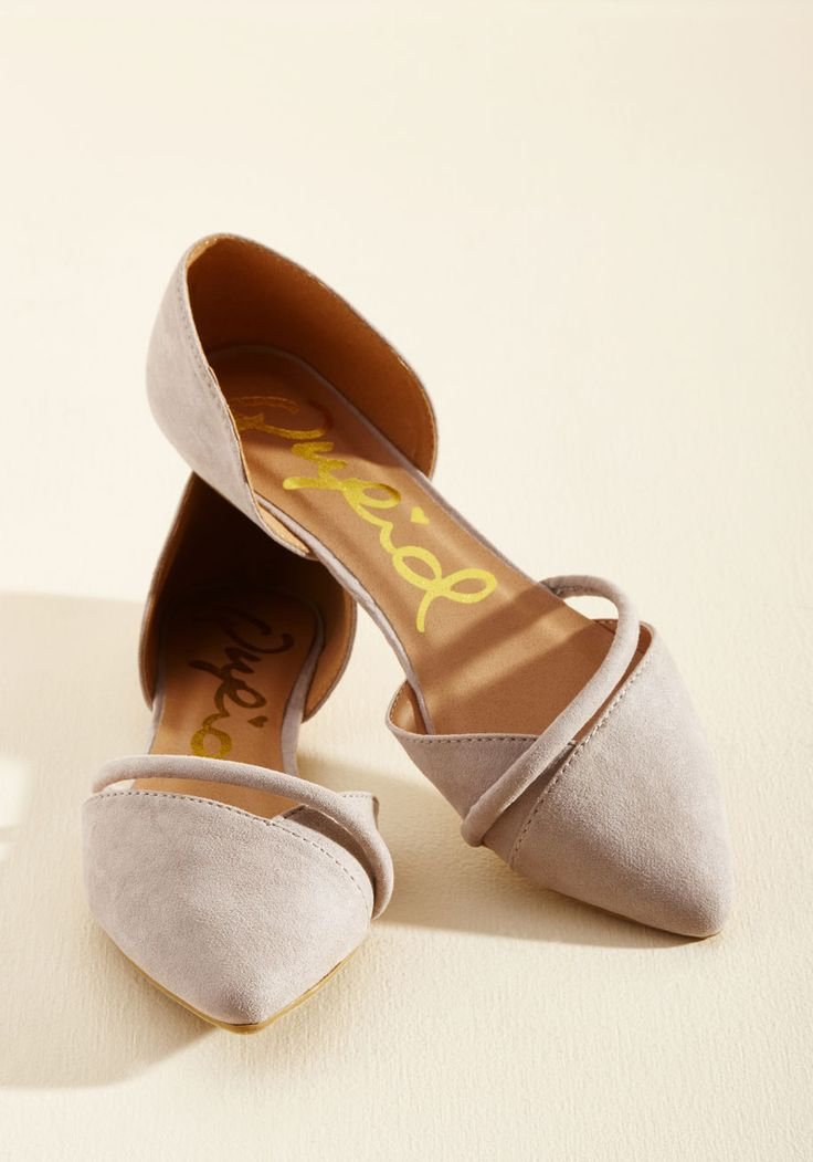 Point Made Flat in Neutral. You understand the importance of having faux-leather flats for every occasion. #brown #modcloth