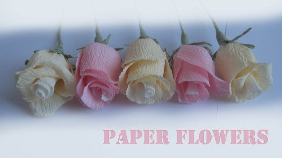 Wedding LIGHT paper flowers wedding table by moniaflowers on Etsy