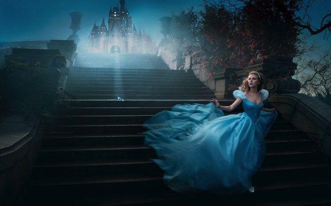 Scarlett Johansson de #Cenicienta #Disney #Cinderella