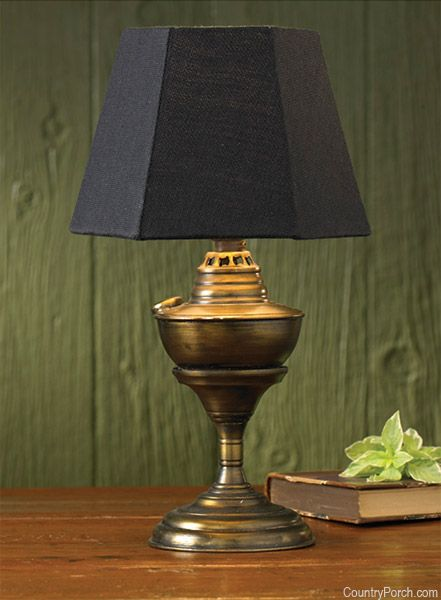 The Country Porch Features The Antique Brass Table Lamp From Park Designs.