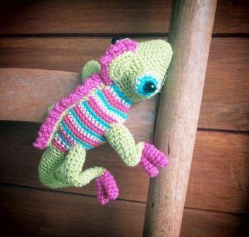 Kama the Chameleon Hand crocheted by AfricanDaisyCrochet on Etsy