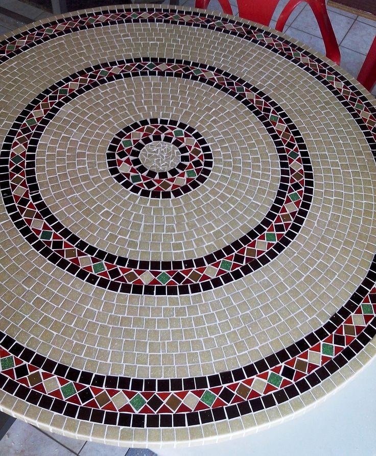 Tampo de mesa Mosaico 90 cm | Myo Atelier Decoração e Arte | Elo7