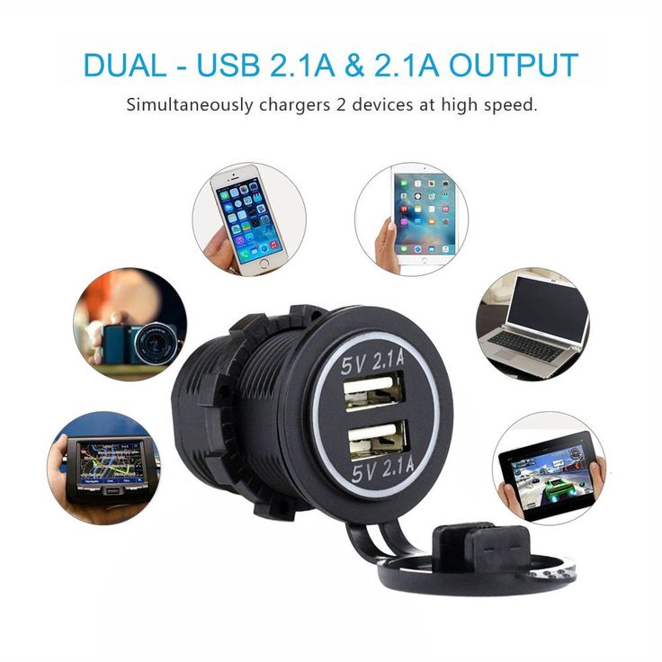 Cllena dual usb charger socket power outlet 21a and 21a