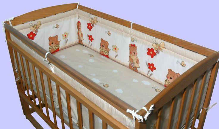 Простые, но очень милые бортики для детской кроватки