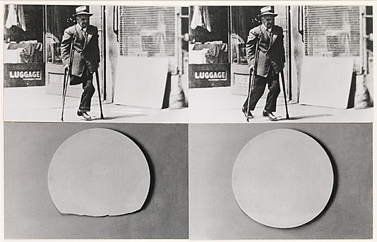 John Baldessari, Repair/Retouch Series: An Allegory on Wholeness (Plate and Man with Crutches), 1976 #art #artist
