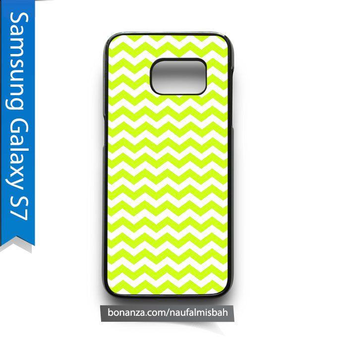 Yellow Chevron Pattern Samsung Galaxy S7 Case Cover