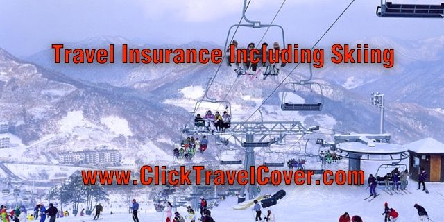 International travel insurance that includes active and adventure sports like ski vacations free of charge - check out http://www.clicktravelcover.com/