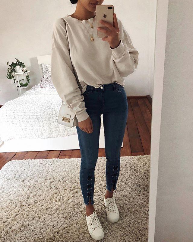 Jeans Fashion Style Outfits Thanya #Akiwarinda