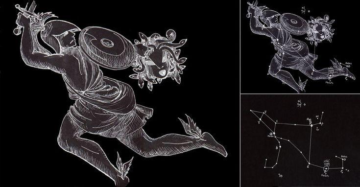Perseus Constellation by ryuuko-chan on DeviantArt