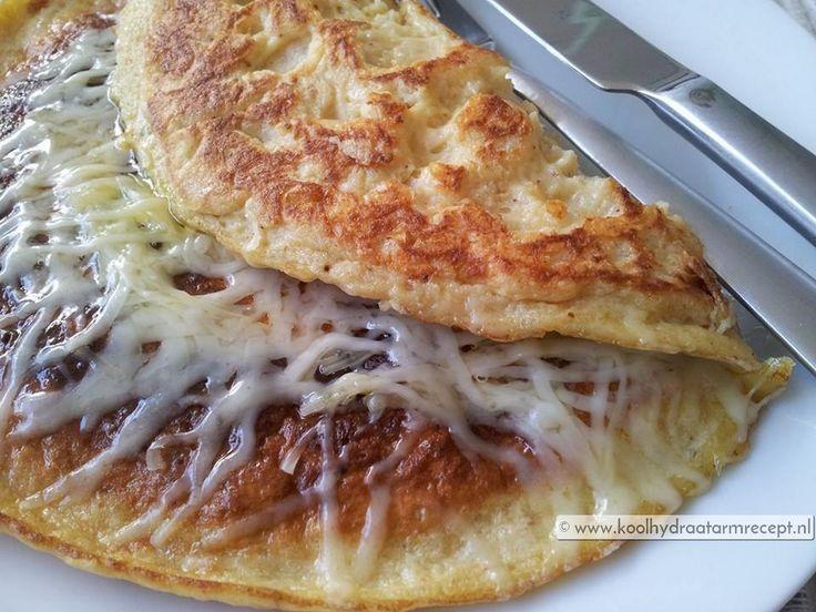 Kaaspannenkoek met aan allebei de kanten kaas zodat de onderkant een mooi krokant kaaskorstje krijgt en aan de bovenkant een gesmolten kaastopping. Hmm!