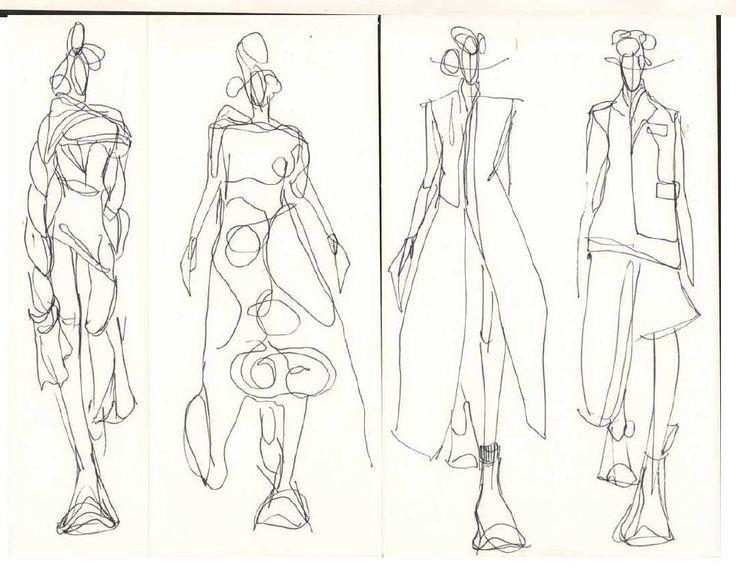 Fashion Sketchbook - fashion drawings; fashion sketching; creative process; fashion portfolio // Mia Jadrna