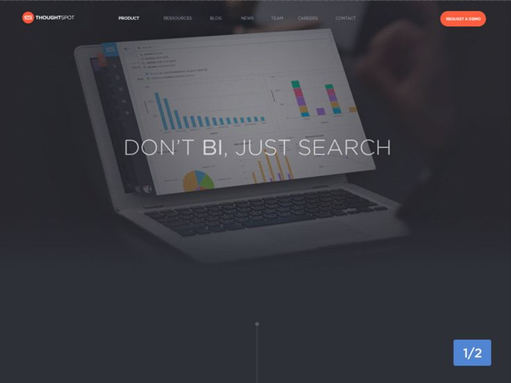 ThoughtSpot Product Page 1/2 by Barthelemy Chalvet