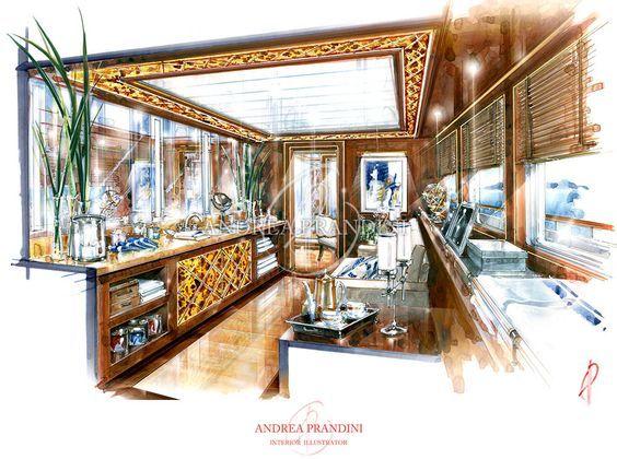 Adnrea prandini interior sketch designs 3d pinterest for Interior design 7 0 tutorial