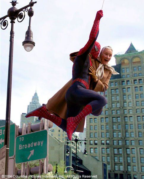 "till of Tobey Maguire and Rosemary Harris in ""Spider-Man 2"", 2004"
