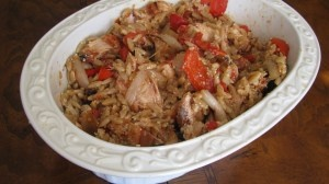 whole wheat orzo with grilled chicken and roasted vegetables