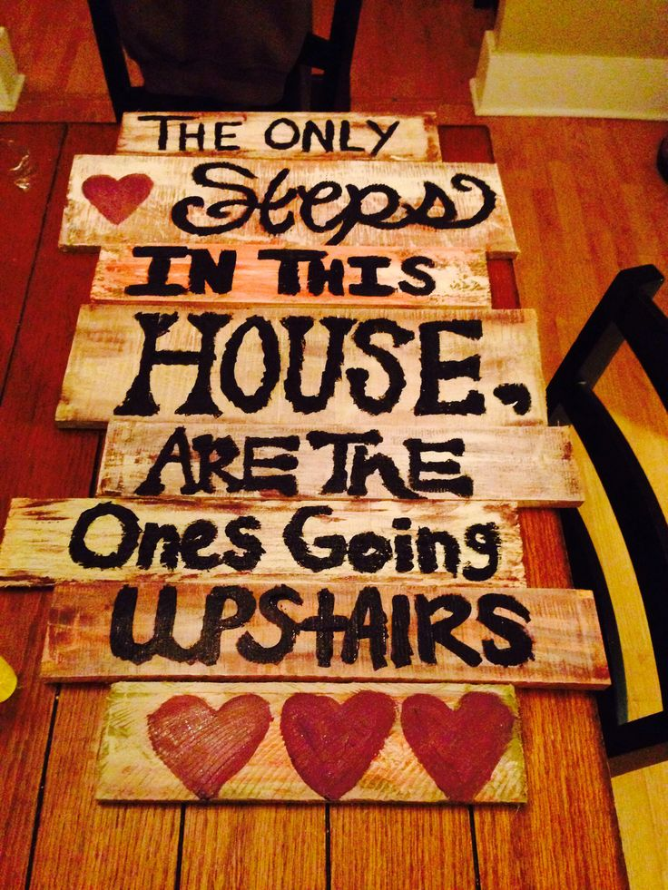 Step parents. Pallet sign i made.