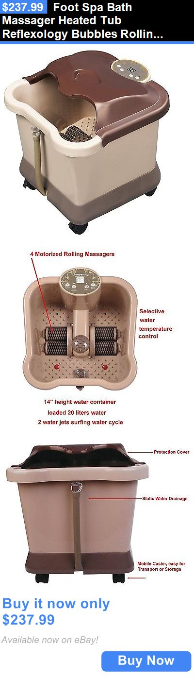 Spas Baths and Supplies: Foot Spa Bath Massager Heated Tub Reflexology Bubbles Rolling Machine Health New BUY IT NOW ONLY: $237.99