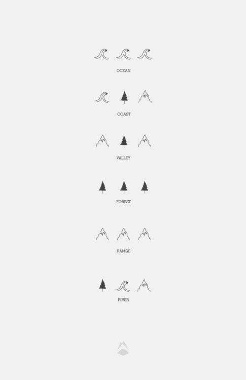 525536254 the great outdoors in icons | Tatooes | Ocean tattoos, Tattoos, Body ...