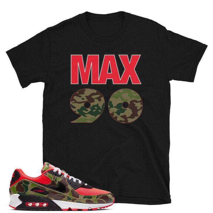 Air Max 90 Reverse Duck Camo CW6024-600 Match T-shirt | eBay | kaatxstore.com | #nike #airmax #nikereverse #duckcamo #nikeair #airmax2020 #nikerunning #nikeairmax90 #max90 #sneakers #CW6024600 #tshirt #kaatx