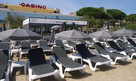 Restaurant Casino Barrière Ste Maxime : Journée plage avec transats et cocktails pour 2 personnes