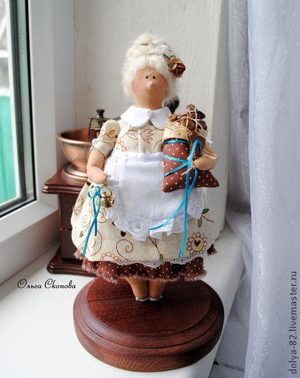 Куклы Тильды ручной работы. Ярмарка Мастеров - ручная работа Кофейная фея толстушка.. Handmade.