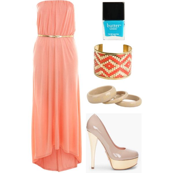 Casual Maxi Dress Outfit, created by cvnewman on Polyvore