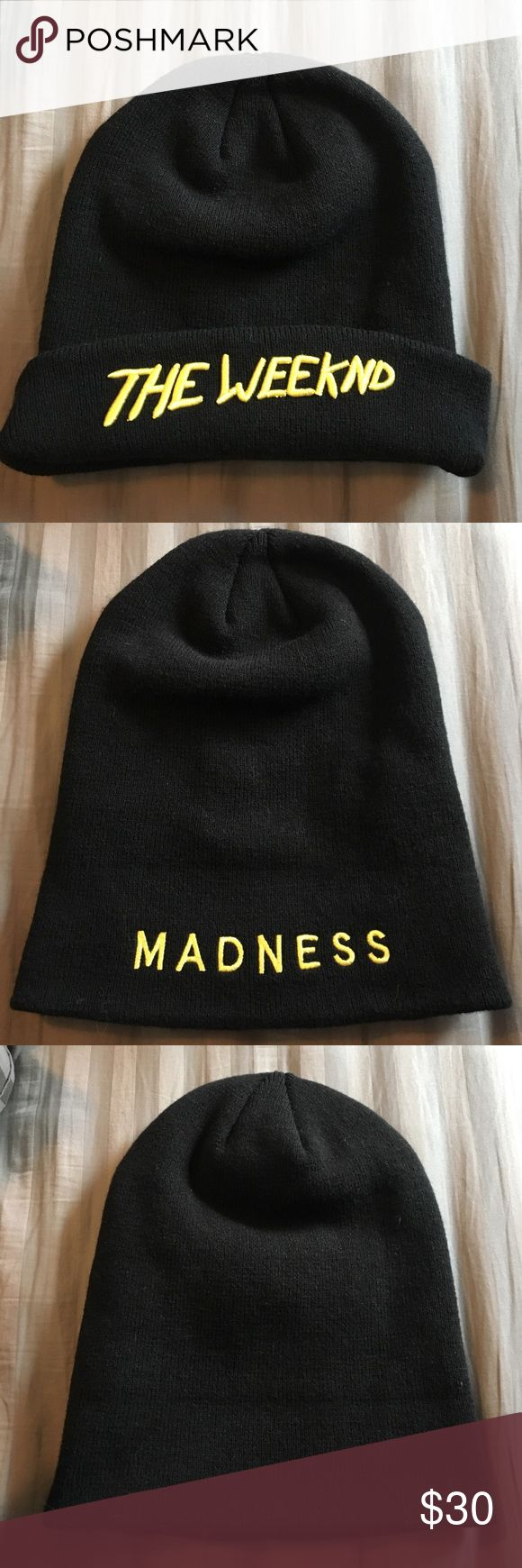 The Weeknd Beauty Behind the Madness Tour Beanie The Weeknd Beauty Behind the Madness Authentic Tour Beanie Accessories Hats