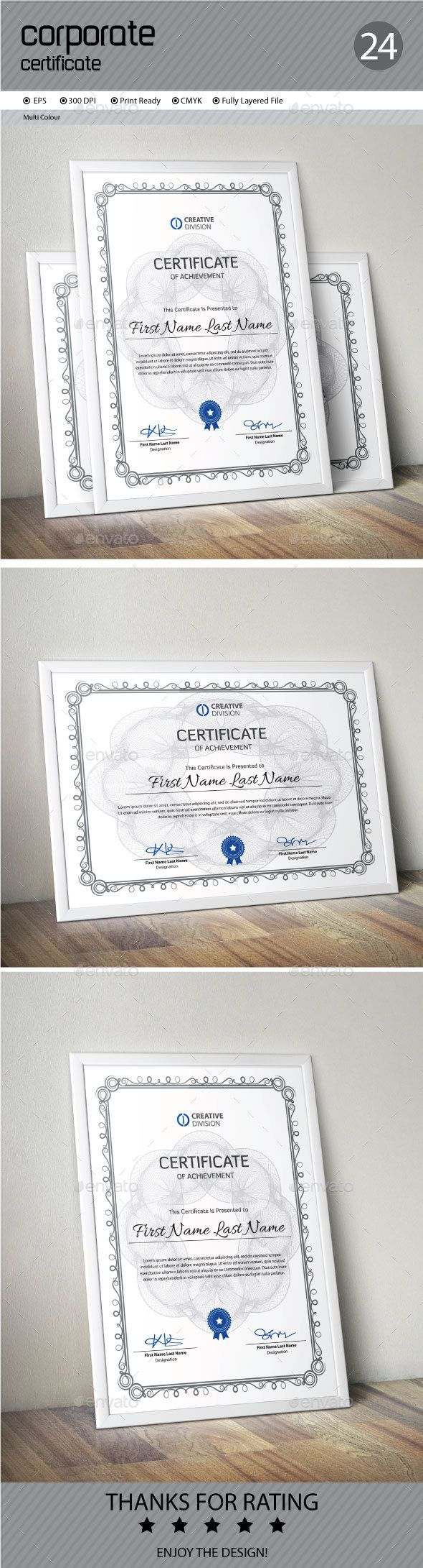 #Certificate - #Certificates #Stationery Download here: https://graphicriver.net/item/certificate/13300050?ref=alena994
