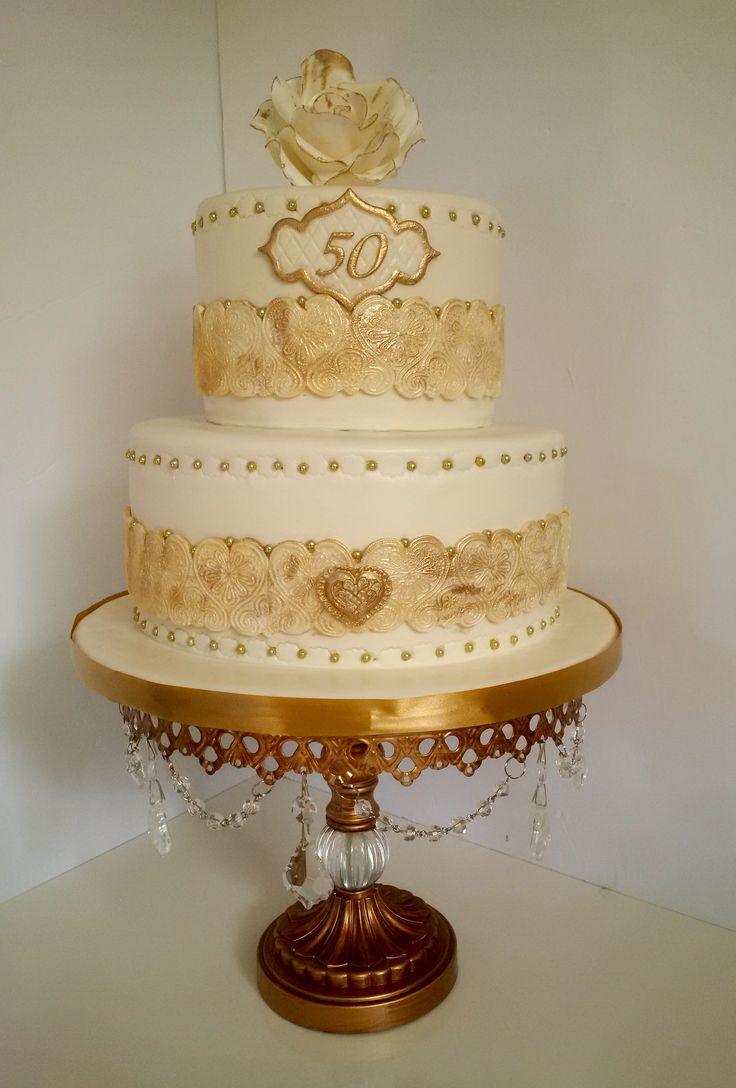 50th Anniversary Cake! Golden Anniversary