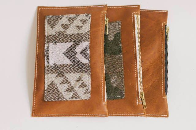always rooney: Leather Zippered Pouch | DIY