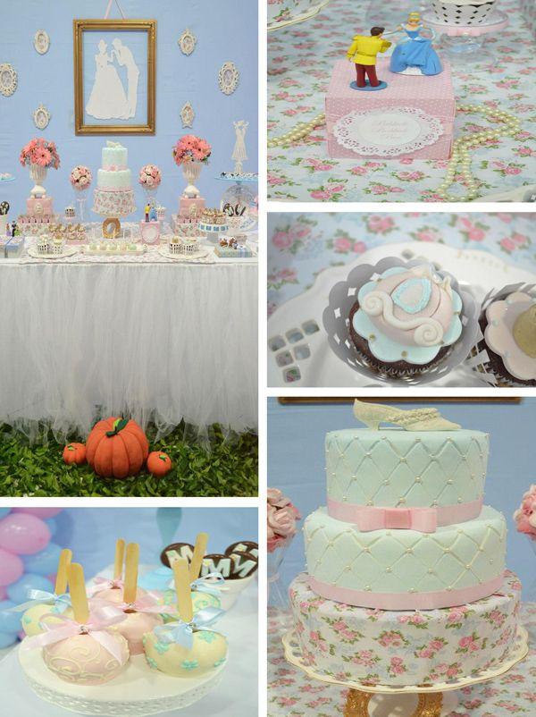 Cinderella Themed Birthday Party via Karas Party Ideas | KarasPartyIdeas.com #cinderella #princess #disney #girl #birthday #party #ideas