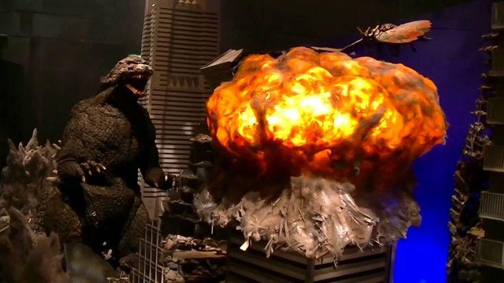 Godzilla, Mothra & Battra - Yokohama Battle Diorama ゴジラ、モスラ、バトラ 横浜決戦 @ 大...