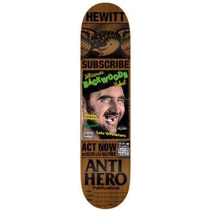Anti Hero Skateboard Deck - Issues Hewitt Brown 8.43 IN