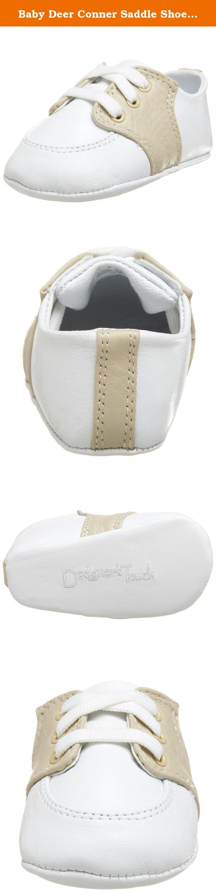 Baby Deer Conner Saddle Shoe (Infant/Toddler),White/Tan,1 M US Infant. Wear these dressed up or down. Classic, yet contemporary two-tone saddle oxford. Pebbled leather upper. Convenient lace-up design. Soft, cushioned outsole keep feet comfortable. Measurements Weight 1 oz Product measurements were taken using size 3 Infant, width M. Please note that measurements may vary by size.