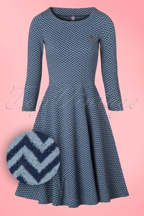 Blutsgeschwister Transatlantic Blue Zigzag Dress 102 39 19169 20160825 0003W1