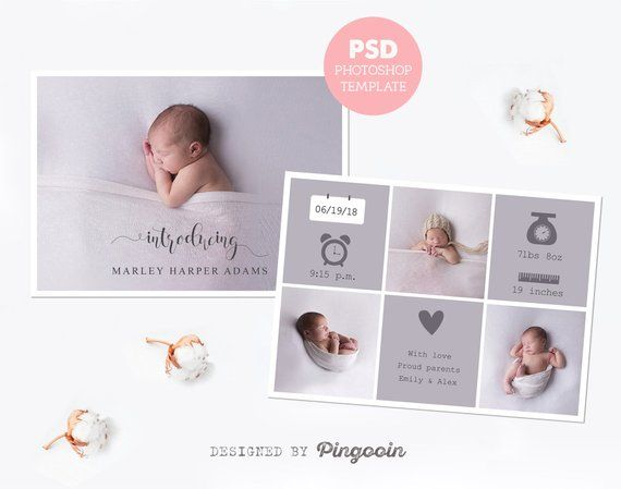 Birth Announcement Template Newborn Card Baby Announcement Etsy In 2021 Birth Announcement Template Baby Announcement Cards Birth Announcement