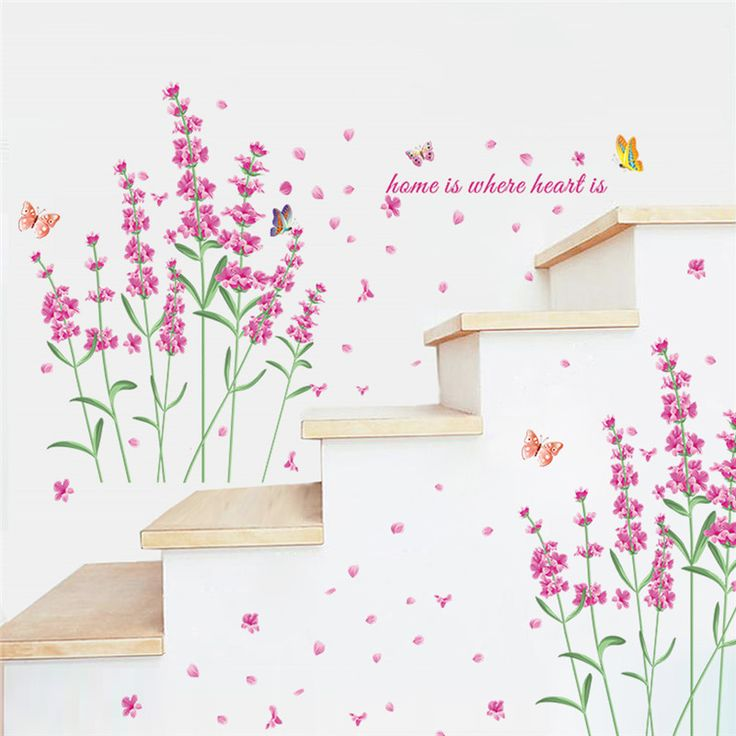Romantic DIY Nature Flowers Butterfly Wall Stickers Home is Where Heart is Quotes 3d Wall Decals floral TV decoration Home Decor-in Wall Stickers from Home & Garden on Aliexpress.com | Alibaba Group