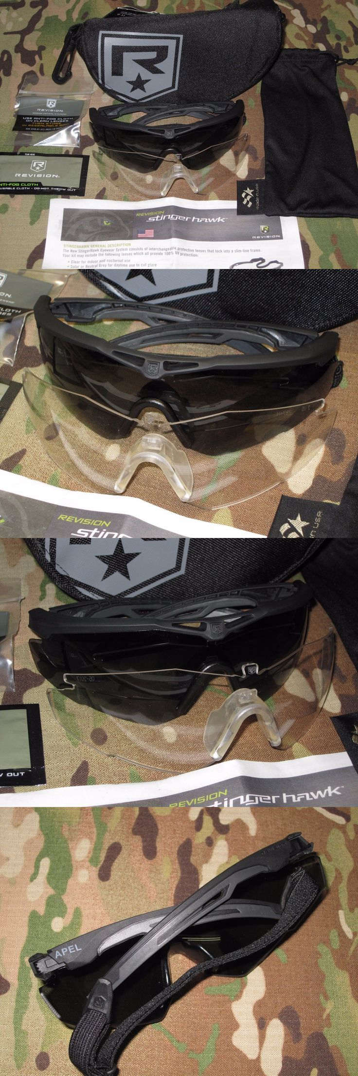 Shooting and Safety Glasses 151549: Revision Military Eye Pro Kit Stingerhawk Clear And Dark Lens Shatterproof Glasses -> BUY IT NOW ONLY: $54.95 on eBay!