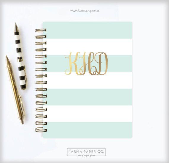 2017 - 2018 Planner | Monogram Planner | 12 Month Planner | Student Planner | Professional Planner | Agenda | Personalized | Monogram